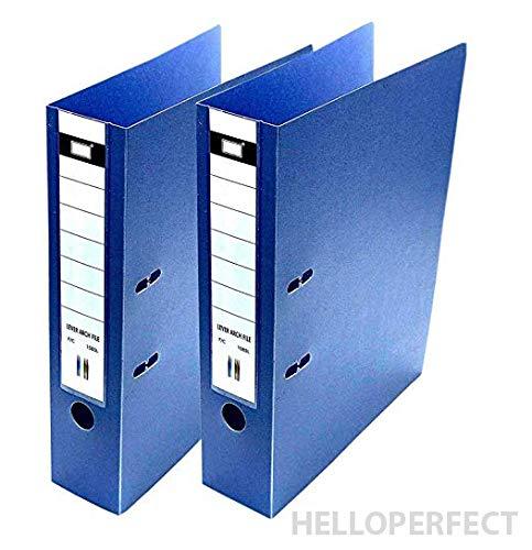 Executive Polymar Aktenordner, für Bürodokumente und Zertifikate, Blau, 2 Stück