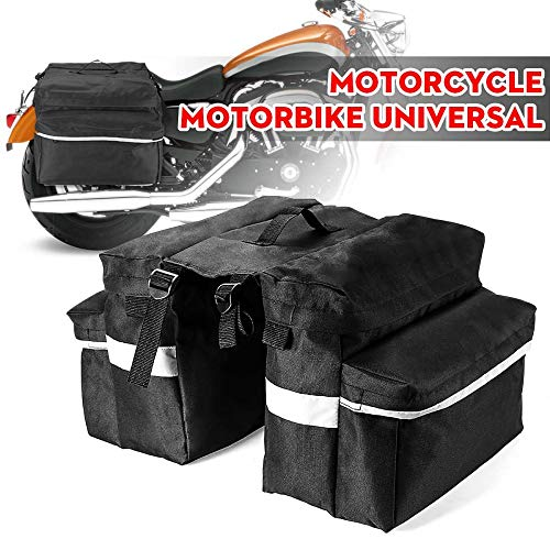 LUPENGCH Motorrad Roller ATV Hinten Canvas Satteltasche Linke und rechte Seite Werkzeugtasche Gepäckaufbewahrung Werkzeugtasche Seitenverpackung Langstreckenreisen Reisetasche mit großer Kapazität -