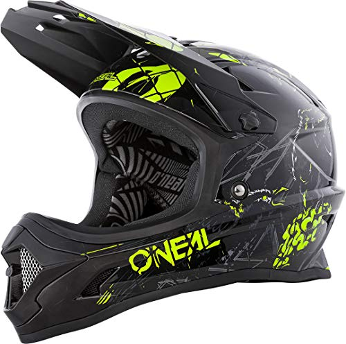 O'Neal Fullfacehelm Backflip Zombie, Schwarz Neongelb, L, 0500-57