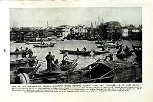 RIVIÈRE HANKAU NAN-KING YANG-TSE-KIANG de la CHINE des SAMPANS c1920