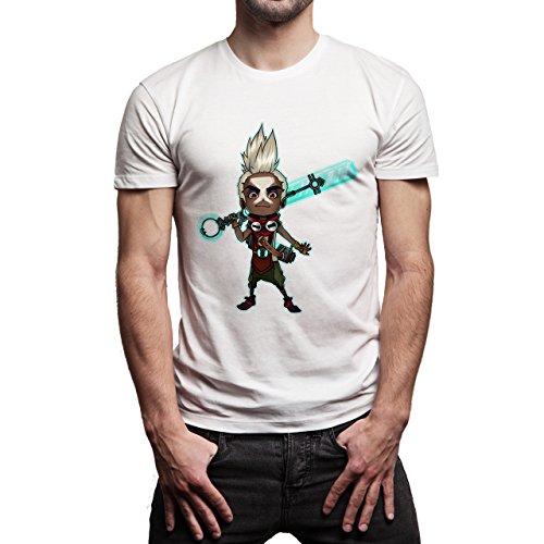 League Of Legends Fans Art Ekko Herren T-Shirt Weiß