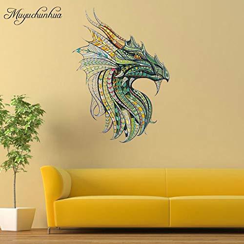 Qsdfcc Muyuchunhua DIY Decor Dragon King Wandtattoo Familie Aufkleber für Wohnzimmer Schlafzimmer Dekoration Wandaufkleber 56 * 77 cm