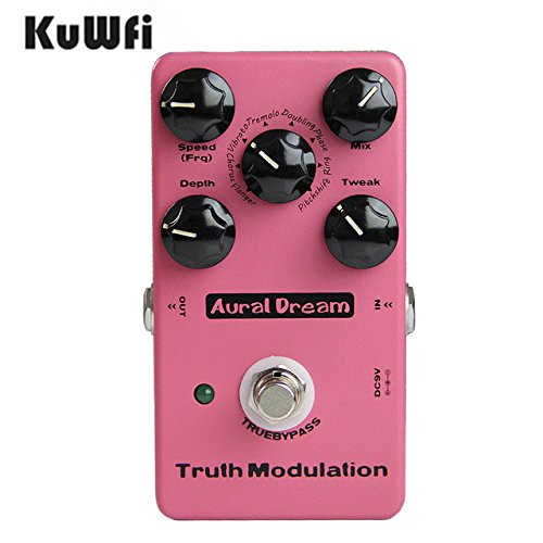KUWFI AURAL DREAM DIGITAL TRUE BYPASS TRUTH MODULACION EFECTOS PEDAL PARA GUITARRA