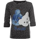 BEZLIT Mädchen Pullover Bären Motiv Langarm Sweatshirt 21581 Anthrazit Größe 104