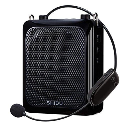 Amplificatore vocale wireless (25W), Altoparlante Bluetooth avanzato SHIDU 2000mAh Sistemi PA ricaricabili con microfono UHF regolabile per insegnante/Allenatore/Guide turistiche