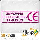 Kiwistar CE Spielzeug 20 x 6,5 cm IN 15 Farben - Neon + Chrom! Sticker Aufkleber