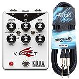 Komet Amplification K.O.D.A. Overdrive Pédale + câble de guitare KEEPDRUM 3 m