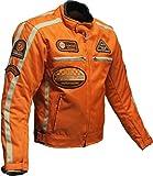 Motorrad Jacke Motorrad Jacke orange Motorrad Jacke 4XL, Orange