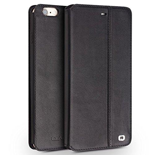"iPhone 6/6S/+ Plus Ständer Fall, Slim Flip echtes Leder Schutzhülle, qialino Ultrathin Bookstyle Case, 11,9cm/14cm Apple Zelle Displayschutzfolie, Leder, iphone6 Brown, 4.7"" iphone6 iphone6s plus Black"