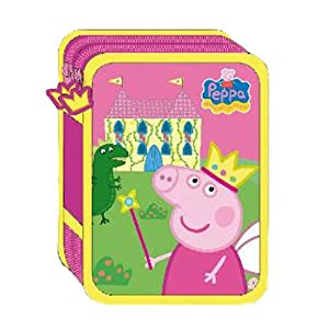 Plumier doble relleno Peppa Pig