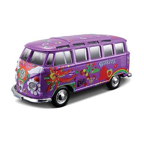 Tobar VW Samba Bus púrpura del Hippie Línea Maisto 1:25 Coche Modelo Juguetes