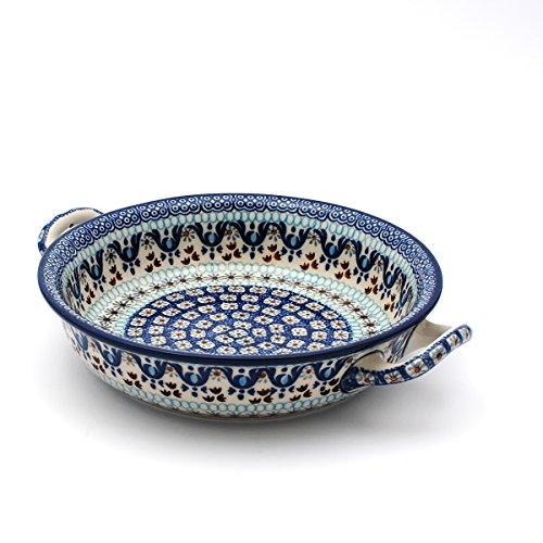 Ceramika Artystyczna Polish Pottery Oven Dish With Handles