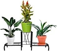 D&V ENGINEERING - Creative in innovation Metal Indoor/Outdoor 3 Pot Stand/Plant Stand for Home/Garden Deco