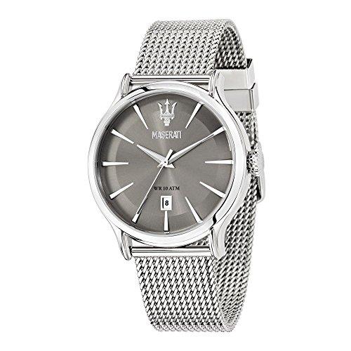 Maserati Reloj Analógico de Cuarzo para Hombre con Correa de Acero Inoxidable - R8853118002