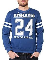 Homme Sweat-Shirt Pull Polaire Casual Imprimé Sportif Classique