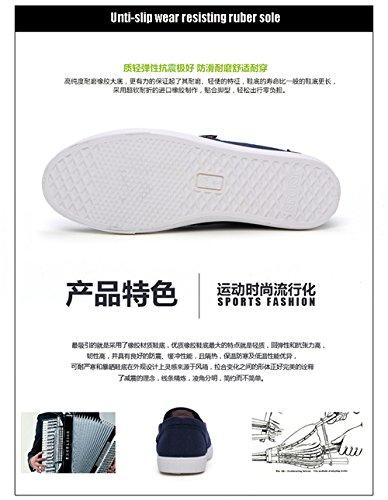 Gaorui Heren Sneakers Canvas Schuh Slipper Halbschuhe Sport Deck Espadrilles Blau Gr.42.43 Schwarz