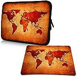 PEDEA Design Schutzhülle Notebook Tasche bis 13,3 Zoll (33,7cm) mit Design Mauspad, Brown Global Map - gut und günstig