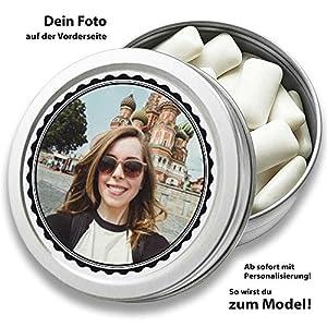 Personalisierte DOCTORS GUM, zuckerfreie Kaugummis in Retro Dose, mit Foto, Geschenk für Männer, Frauen, 30 Stück in Dose