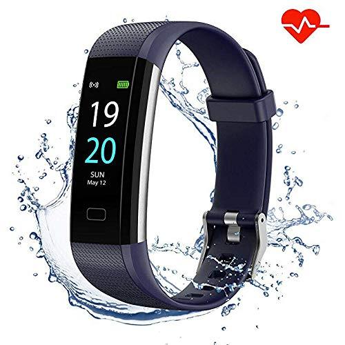 Showyoo Fitness Pulsera de Actividad Inteligente Impermeable IP68 con Pantalla Color, Reloj...