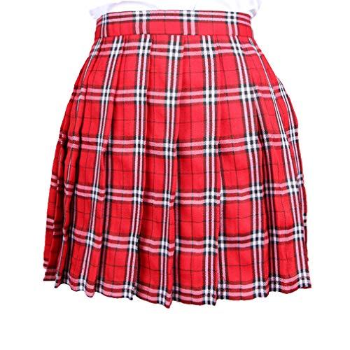 26495062b2 Mxssi Falda Mujer Talle Alto Mini Faldas Plisadas Falda Escuela Tenis Skater