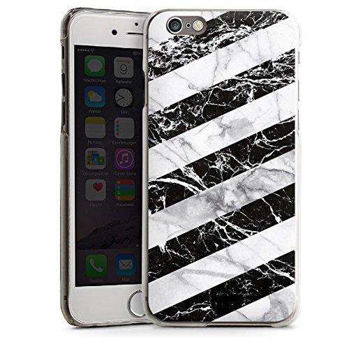 Apple iPhone 5 Housse Outdoor Étui militaire Coque Bandes Noir et blanc CasDur transparent