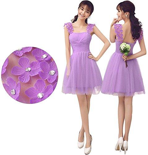 Drasawee  Damen A-Linie Brautschleier Violett - Purple A