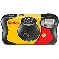Kodak FunSaver - Cámara de fotos desechable de un uso 27 + 12 exposiciones con flash, color negro