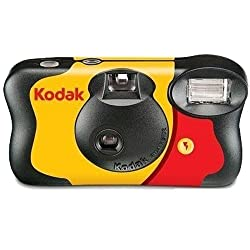 Kodak Single Use Funsaver Camera With Flash 27 Exposures +12 Free