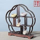 GWDecor Retro Redwood Regal Chinesisch Traditionelle Handarbeit Geschnitzt Wenge Antik Möbel Creative Home Dekor Schmuck Storage Pflaume Form