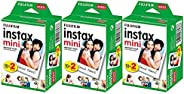 Fujifilm Instax Mini Instant Film - 60 Sheets (3 Packs of 20 Film Sheets)