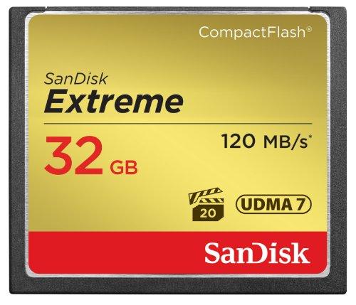 SanDisk Extreme 32GB CompactFlash UDMA7 Speicherkarte bis zu 120MB/s lesen Sandisk Extreme Cf 32
