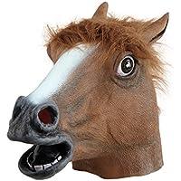 Pferdemaske für Halloween Maske latex Tiermaske Pferdekopf Pferd Kostüm