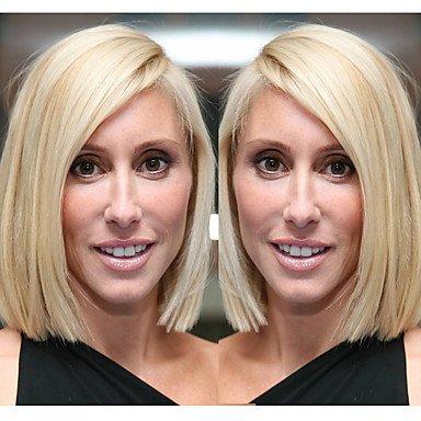 Frauen Echthaar Spitze Perücke Remy Spitze vorne 130% Dichte geraden Perücke Licht blonde kurze mittlere 100% von Hand gebunden afrikanischen Ame Rican Perücke -