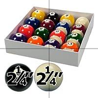 Spots and Stripes - Juego de bolas de billar (5,7 cm de diámetro, bola blanca de 5,9 cm de diámetro)