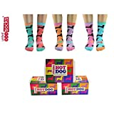Oddsocks Hot Dog Socken für Frauen - Hot Dog witzig im 6er Set