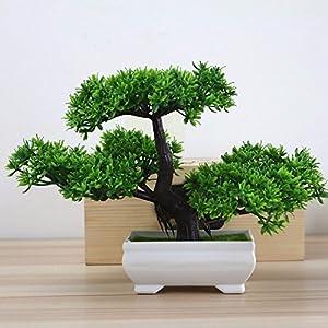 SituMi artificiale fiori finti Guest-Greeting bianco Pino Fioriere Home Decor amante Bonsai albero natale,verde