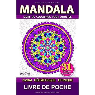 Mandala: Livre de poche. Anti-stess livre de coloriage pour adultes. Le soulagement du stress, pour la meditation et relaxation