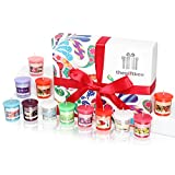 Multi Scented Colourful Scented Candles Gift Set Containing 12 Individual Fragranced Candles in a Deluxe Gift Box. Perfect Birthday Gift, Christmas Gift and Gift for Women (Jellykiss)