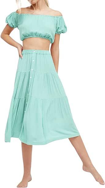 Yodensity Damen Kleid Strandkleider Zweiteilig Anzüge ...