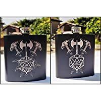 Dungeons and Dragons inspired Hipflasks - Dungeon Master Deadly Poison Sword Axe