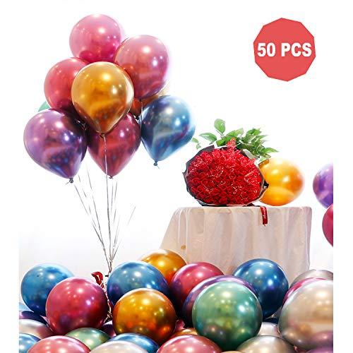 Jteng palloncini metallici,50pcs 12 inch palloncini metallici adatto a qualsiasi decorazione di festa, halloween, natale, festa di compleanno, ecc.