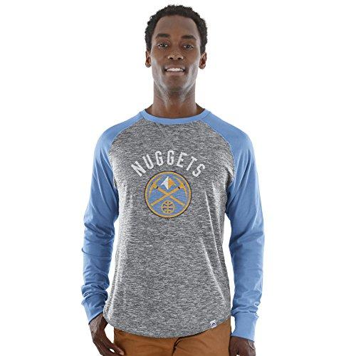 Majestic Athletic NBA Herren 's National Exposure Heathered Long Sleeve Shirt, Grau, Small