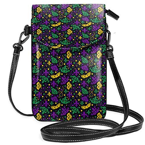 Handtasche für Handy, Handy, Umhängetasche, Mardi Gras Smartphone, Geldbörse mit abnehmbarem Riemen ()