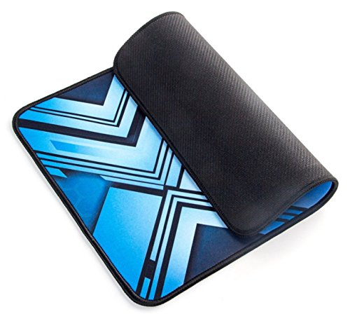 ShiRui MP02 Extended Ultra-Smooth Gaming Mauspad / Matte mit cooler Farbe – XL Großes, breites (langes) schwarzes & blaues Mousepad, genähte Kanten | 12.6″x9.45″x0.12″(Schwarz und Blau, L) - 3
