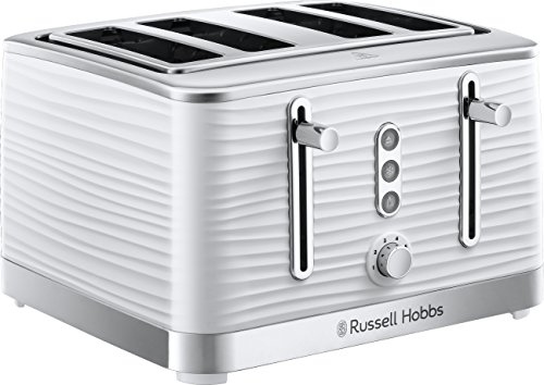 Russell Hobbs 24380 Inspire Four Slice Toaster, White Best Price and Cheapest