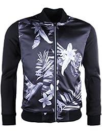 Veste teddy homme Gov Denim noir/gris motif exotique 11369-9_BK