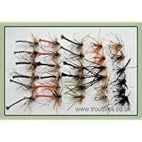 Daddy Long Legs Fishing Flies, 30 Per Pack, Mixed colours and sizes, Fly Fishing