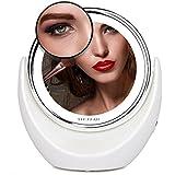 Miroir de beauté Miroir de maquillage à grossissement x7 et LED, miroir d'appoint rotatif à ...