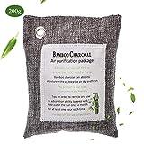 Sacchetto Deodorante Naturale 200g Carbone di Bambù Attivato Air Purifying Bag Sacchetto Elimina Odori per Auto/Cucina/bagno/Armadio/Frigorifero/Zona Animali Riutilizzare fino a 2 Anni