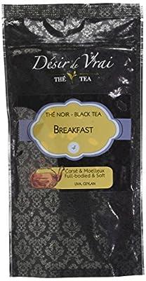 Désir de Vrai Thé Noir Breakfast Ceylan N° 4 100 g - Lot de 6